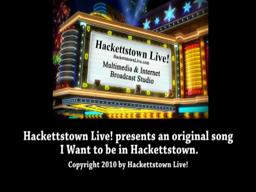 I Want to Be in Hackettstown