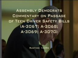 Assembly Democrats Commentary on Assembly Passage of Teen Drive