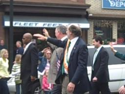 Gov. Jon Corzine at the Hoboken St. Patrick's Day parade