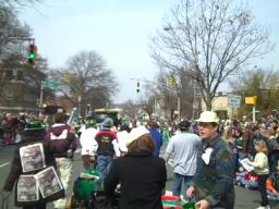 Marching in the Morris County St. Patrick's Day parade