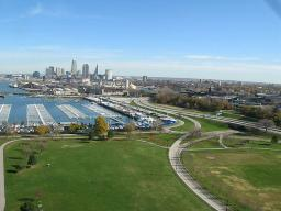 View of Cleveland from a Kite