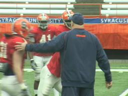 Syracuse football practice footage
