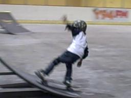 The little guy wins the crowd at the SK8 Jam