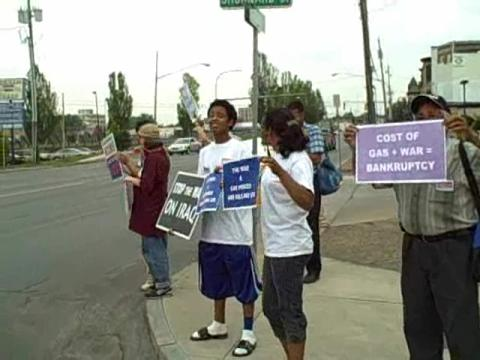 Group protests high gas prices