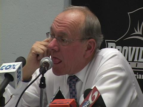 Jim Boeheim's funny comment about Arinze Onuaku's injury - wron