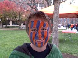 face painting at the SU Quad