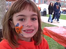 face painting on the SU Quad