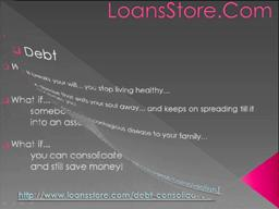 Free Debt Consolidation Help and Credit Counseling at LoansStore
