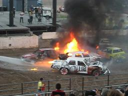 Fire at Demolition Derby 2010