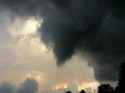 Palermo tornado funnel cloud