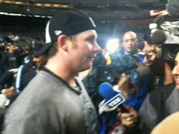Yankee's Coke interview Post game