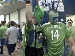 Sounders 2, Dynamo 1: Seattle fans Mr. Mohawk and Co. look fier