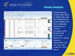 :-  Hotel Management Software eZee FrontDesk with reservation, accounting, booking, pms features.