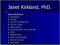 Beaverton Oregon Psychologist Janet Kirkland PhD