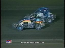 Donny Olivers USAC Midget crash