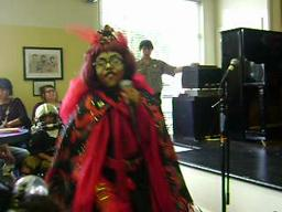 Kiya Performing As Evilene Singing