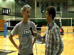 GVSU Volleyball Interviews 11-4-09
