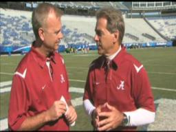 Nick Saban and John Dever highlight Crimson Tide academic programs