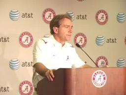 Alabama coach Nick Saban, LSU postgame