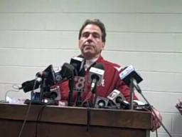 Alabama coach Nick Saban, Iron Bowl 2009 postgame
