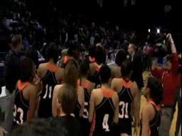 Hoover celebrates the 6A girls basketball state championship