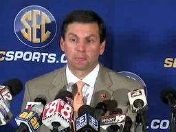 Tennessee's Derek Dooley speaks at SEC Media Days