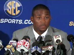 LSU's Patrick Peterson speaks at SEC Media Days