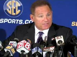 LSU's Les Miles speaks at SEC Media Days