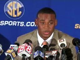 LSU's Jordan Jefferson speaks at SEC Media Days