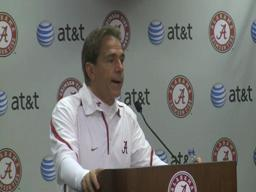 Alabama head coach Nick Saban postgame press conference after the Ole Miss game