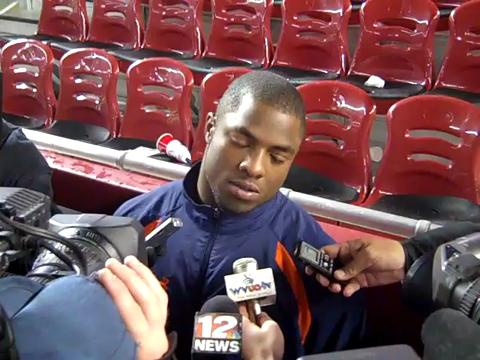 Auburn running back Michael Dyer Iron Bowl postgame