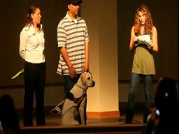 A bat mitzvah project and the love for Galen the guide dog