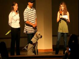 A bat mitzvah project and a love for Galen the guide dog