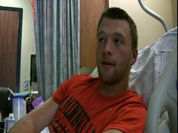 Hospitalized McMinnville football player talks about his arm pain