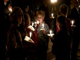 Children at Mercy Corps vigil for Haiti