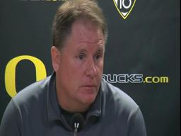 Chip Kelly talks about Oregon Ducks' matchup with Washington
