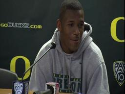 Oregon-Washington postgame video: LaMichael James