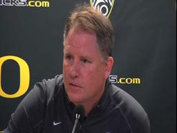 Oregon Ducks-Cal Golden Bears video: Oregon coach Chip Kelly talks quarterbacks