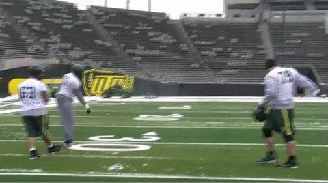 Oregon Ducks video: A snowy, cold morning practice at Autzen