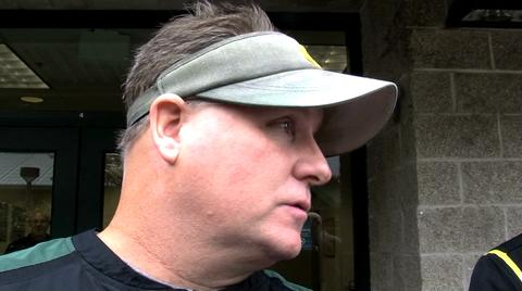 Oregon Ducks football video: Oregon coach Chip Kelly after practice Wednesday