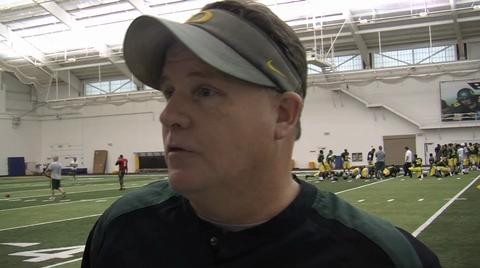 Oregon Ducks video: Coach Chip Kelly talks about his return to practice