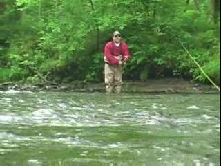 Flyfishing with a spey rod on the Salmon River.