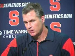 SU vs. Pitt:  Coach Marrone's Post-Game News Conference