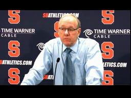 Syracuse vs. Kutztown St. Basketball: Coach Boeheim