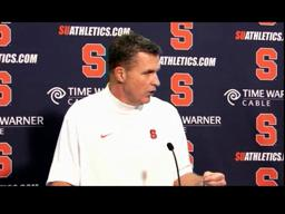 Syracuse vs. Louisville Football: Coach Marrone Post-Game Press Conference