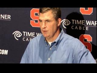 Syracuse Football Post-Louisville: Coach Marrone's Monday Press Conference