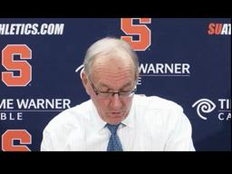 Syracuse vs. Canisius: Coach Boeheim