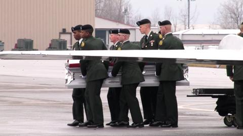 Remains of Sgt. Edward Bolen arrive at the 174th