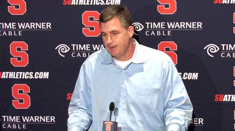 Syracuse Football Bowl Bound: Coach Marrone Press Conference