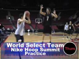 Nike Hoop Summit: World Select practice